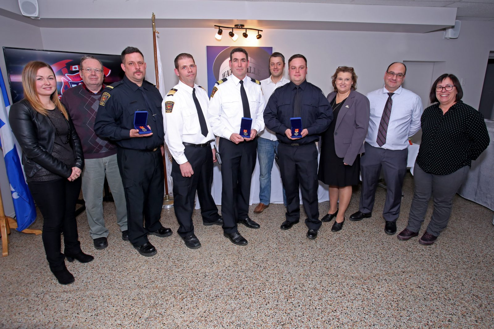 Waterville honore ses pompiers volontaires