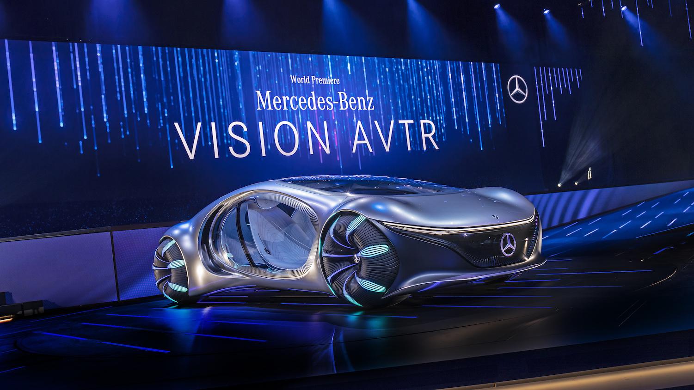 La voiture d'un futur lointain de Mercedes Benz